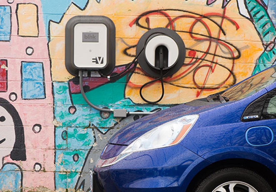 EV at Blink charger